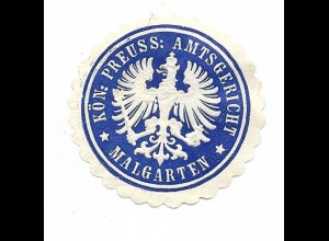 Y19736/ Siegelmarke Amtsgericht Malgarten bei Bramsche ca.1910