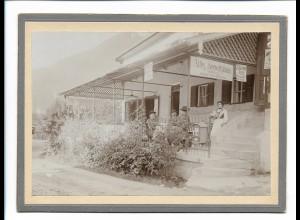 XX14132/ Am Königsee Altes Seewirtshaus Pappfoto 19 x 14 cm 1903 Fotografie