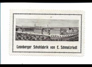 Y19824/ Reklamemarke Leonberger Schuhfabrik E. Schmalzriedt ca.1930