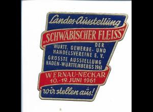 Y19822/ Reklamemarke Wernau-Neckar Landes-Ausstellung Schwäbischer Fleiss 1961