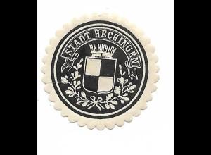 Y19791/ Siegelmarke Stadt Hechingen ca.1912