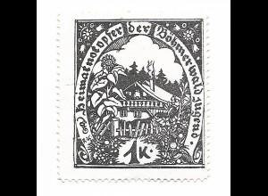 Y19865/ Spendenmarke Heimatnotopfer der Böhmerwald Jugend ca.1915 Böhmen