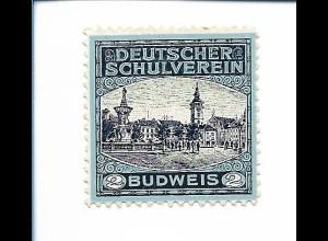 Y19861/ Spendenmarke Budweis Deutscher Schulverein ca.1915 Tschechien