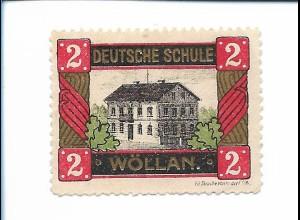 Y19859/ Spendenmarke Deutsche Schule in Wöllan Slowewnien ca.1914