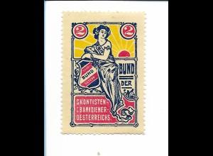 Y19857/ Spendenmarke Skontisten Bankdiener-Österreichs Bund der ... ca.1912