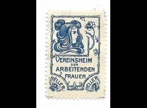 Y19854/ Spendenmarke Vereinsheim der arbeitenden Frauen Jugendstil ca.1911