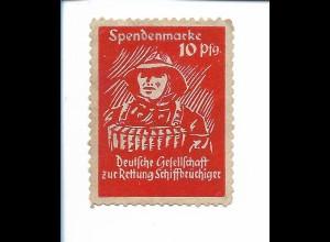 Y19867/ Spendenmarke 10 Pfennig Seenotrettung DGzRS Schiffbrüchiger