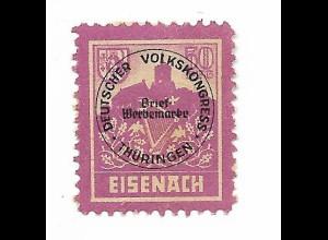 Y20083/ Spendenmarke Dt. Volkskongress Thüringen Eisenach