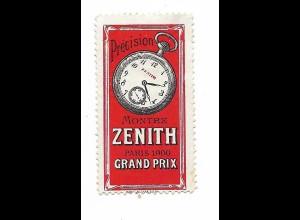 Y20082/ Reklamemarke Taschenuhr Precision Montre Zenith