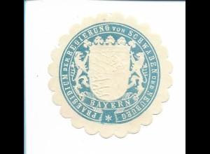 Y19793/ Siegelmarke Präsidium der Regierung v. Schwaben u. Neuburg ca.1912