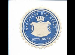 Y19795/ Siegelmarke Oettingen Magistrat der Stadt ca.1912