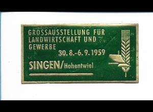Y19825/ Reklamemarke Singen Groß-Ausstellung für Landwirtschaft- u.Gewerbe 1959