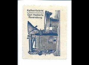 Y19826/ Reklamemarke Ravensburg Kaffeerösterei Carl Haeberle ca.1920