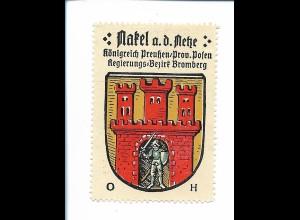 Y19827/ Reklamemarke Nakel a.d. Netzte Posen Wappen Kaffee Hag