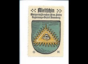 Y19828/ Reklamemarke Mieltschin Prov. Posen Wappen Kaffee Hag