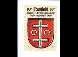 Y19830/ Reklamemarke Fraustadt Prov. Posen Wappen Kaffee Hag