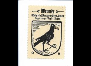 Y19830/ Reklamemarke Wronke Prov. Posen Wappen Kaffee Hag