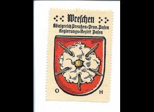 Y19832/ Reklamemarke Wretschen Prov. Posen Wappen Kaffee Hag