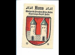 Y19834/ Reklamemarke Hions Prov. Posen Wappen Kaffee Hag