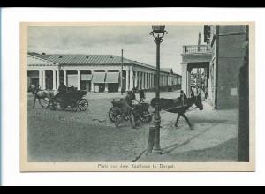 Y19898/ Dorpat Platz vor dem Kaufhaus Kutschen Tartu Estland AK ca.1930