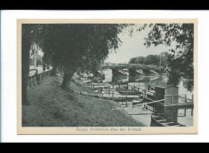 Y19896/ Dorpat Holzbrücke über den Embach Tartu Estland AK ca.1930