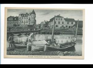Y19894/ Dorpat Embachufer Potonbrücke Tartu Estland AK ca.1930