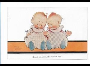 """Y19892/ Babys Mabel Lucie Attwell AK """"Der Zug der Zeit"""" 1928"""