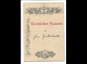Y19882/ Kirchlicher Ausweis Kirche in Gadebusch 1892