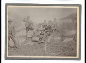 XX14312/ Pfandlscharte am Großglocknerhaus Österreich 1903 Pappfoto Kabinettfoto