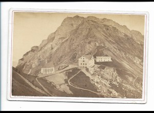 XX14310/ Kabinettfoto Pilatus Hotel Klimsenhorn Schweiz 1874 Foto