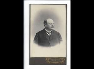 XX14302/ CDV Mann mit Schnurrbart Foto G. Schmidt, Wehlau Ostpreußen ca.1905