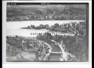 ZZ-5326/ Passau Foto seltenes Luftbild 18 x 13 cm 1938
