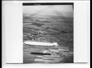ZZ-5327/ Holzgerlingen Zeppelin LZ 127 Foto seltenes Luftbild 18 x 13 cm ca.1938