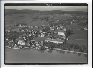 ZZ-5342/ Hagnau Foto seltenes Luftbild 18 x 13 cm 1934