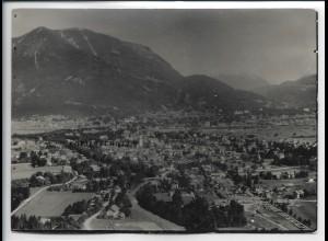 ZZ-5381/ Garmisch Foto seltenes Luftbild 18 x 13 cm 1935