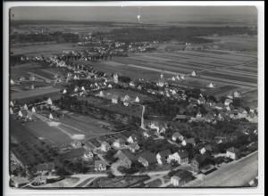 ZZ-5385/ Ay bei Senden Foto seltenes Luftbild 18 x 13 cm 1935