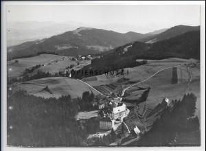 ZZ-5392/ Scheidegg Foto seltenes Luftbild 18 x 13 cm ca. 1935