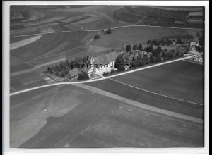 ZZ-5395/ Aufhofen b. Schemmerhofen Foto seltenes Luftbild 18 x 13 cm 1938