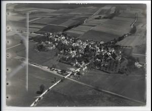 ZZ-5406/ Großschafhausen bei Schwendi Foto seltenes Luftbild 18 x 13 cm 1937