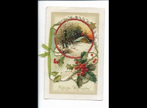XX14747/ Weihnachten Litho Prägedr. zum Aufklappen 1921
