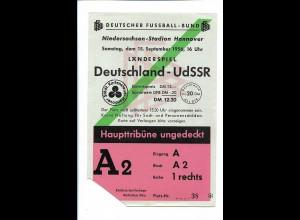 XX14753/ Fußball-Länderspiel Deutschland -UdSSR 1956 Hannover Eintrittskarte