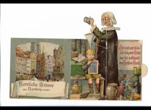 XX14745/ Nürnberg schöne Klappkarte Litho AK ca.1905