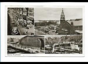 XX14743/ Hamburg Hauptbahnhof AK 1956