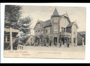 XX14740/ Hamburg Curslack Vierlanden Gasthof zur Post AK ca.1900