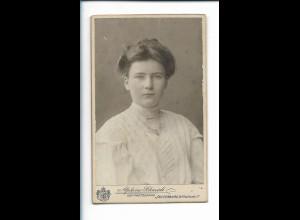 XX14810/ CDV Foto junge Frau Atelier A. Schmidt, Insterburg Ostpreußen ca.1905