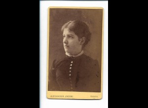 XX14811/ CDV Foto junge Frau Atelier Alex. Jacobi, Thorn Westpreußen ca.1895
