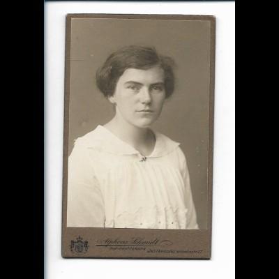 XX14812/ CDV Foto junge Frau Atelier Alph. Schmidt, Insterburg Ostpreußen 1914