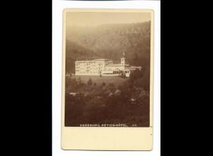 XX14821/ Kabinettfoto Harzburg Actien-Hotel ca.1890