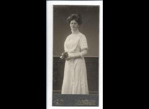 XX14825/ Kabinettfoto junge Frau, Bromberg Westpreußen ca.1910