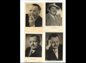XX14865/ 4 x Foto AK Schauspieler Heinrich George